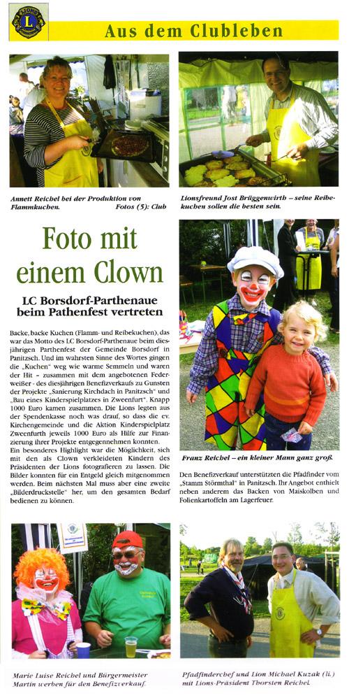 Foto mit einem Clown