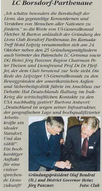 Gründung des LC Borsdorf-Parthenaue