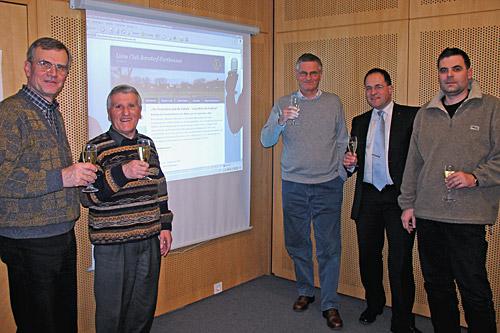 Webteam beim Launch der Website