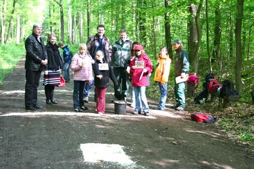 Präsident Perthold Popadiuk, Forstdirektor Andreas Padberg, Kinder