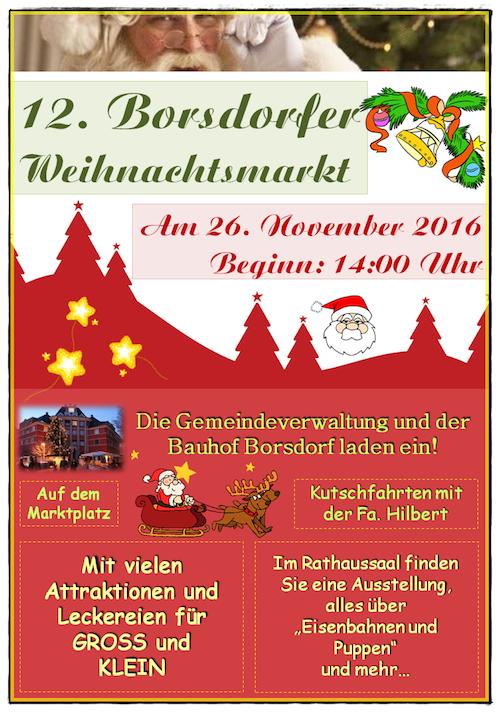 Weihnachtsmarkt 2016 Plakat