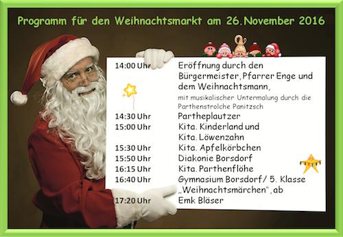 Weihnachtsmarkt 2016 Programm